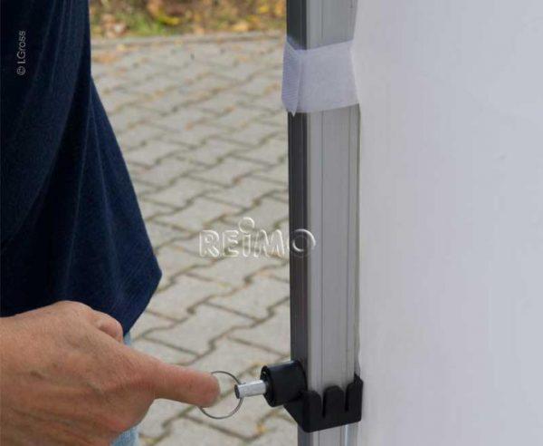 Pared lateral para pabellón de carpas 90542 90545 3x3m blanco con ventana 6