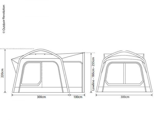 Avance para Furgoneta Inflable Movelite 1 B300xT300xH180-255cm 4