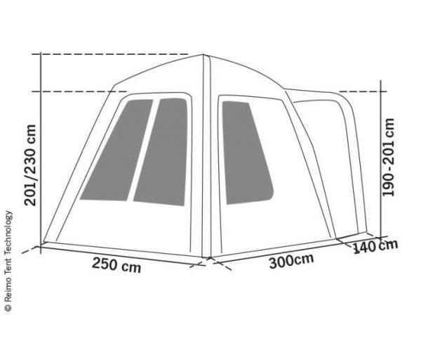 Carpa trasera hinchable e independiente Uni Van Air 6