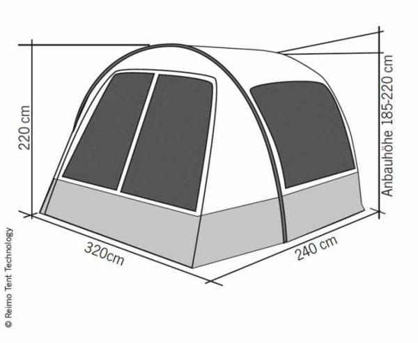 Toldo Hispaniola para Furgoneta de camping altura de montaje 185-220cm 4