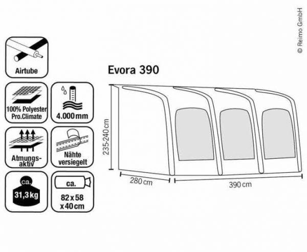 Avance ligero de caravana EVORA 260 PRO CLIMATE transpirable 5