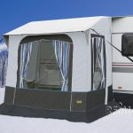 Avance de invierno Cortina 2 f. Caravanas,barras de acero,B220xT180xH23 8