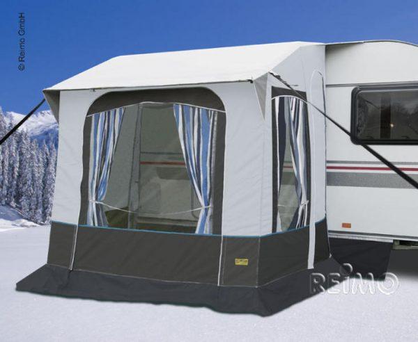Avance de invierno Cortina 2 f. Caravanas,barras de acero,B220xT180xH23 1