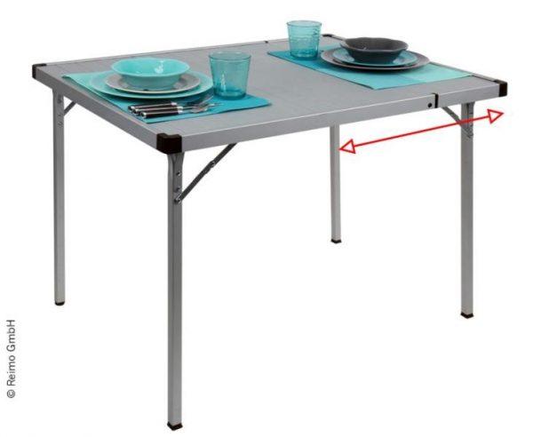 mesa de camping extensible, 94/129x70x70cm, marco de aluminio 3