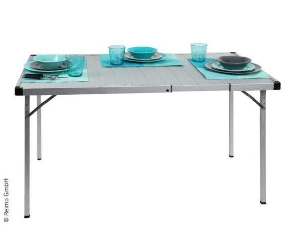 mesa de camping extensible, 94/129x70x70cm, marco de aluminio 1