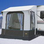 Avance de invierno Cortina 2 f Caravanas barras de acero B220xT180xH23 7