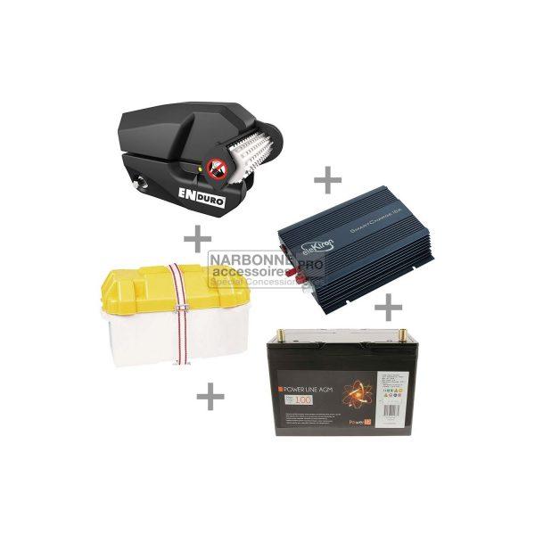 Aparca-caravanas Pack MOVER EM303 manual + batería de 100 Amp + bandeja de batería + cargador de batería de 10 Amp 1