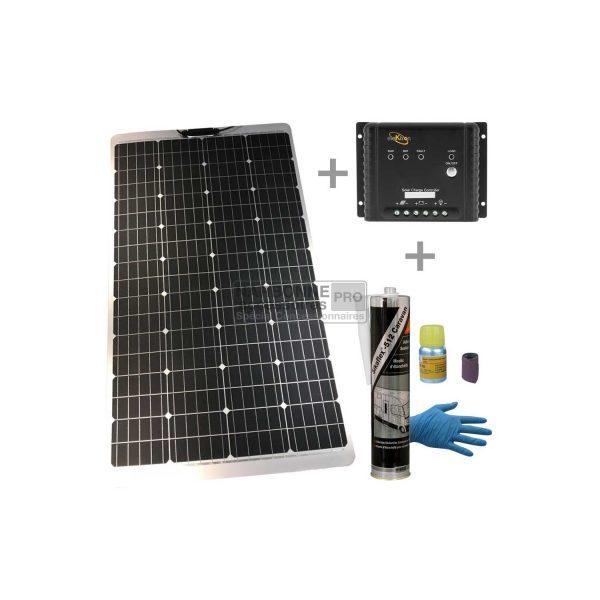 PAQUETE Solar 170W + Regulador MPPT + Kit de pegamento 1