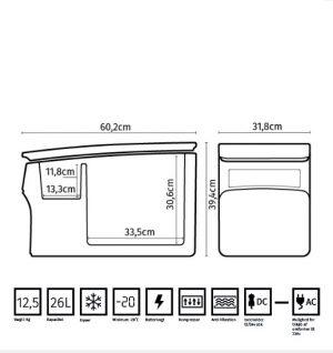 Refrigerador con compresor FMT Fridge Q26 2