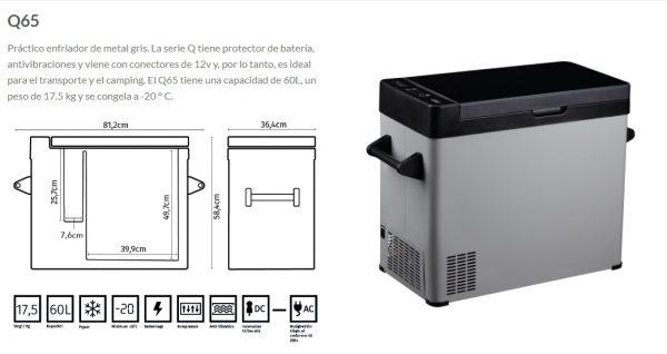 Refrigerador con compresor FMT Fridge Q65 1