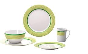 Vajilla Melamina Juego de 16 piezas Trend Line Verde Lima 1