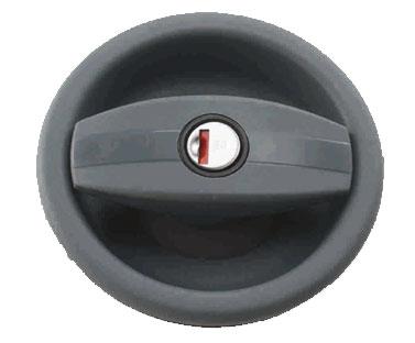 Cerradura CARAVAN derecha, sin cilindro + llave negra 1