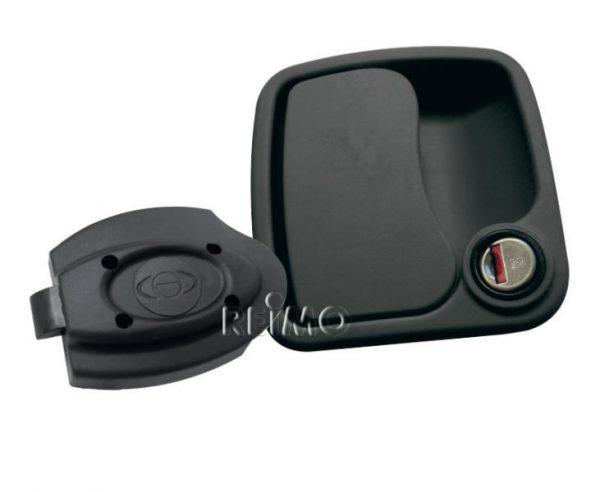 Cerradura Eurogarage negra espesor de pared 26-34mm, sin cilindro/llav 1