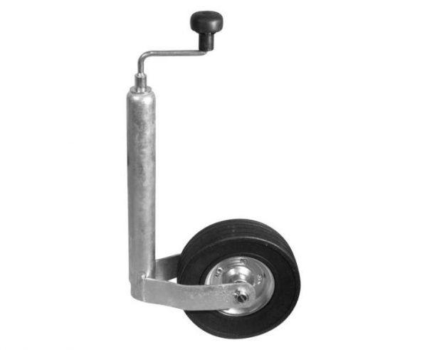 Rueda de soporte de chapa de acero 200x50 48mm goma maciza 1