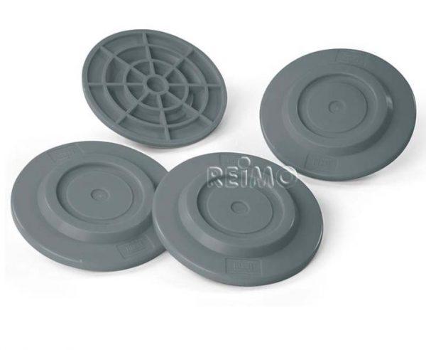 Placas placas de soporte 4 piezas Capacidad de carga 650 kg pc gris 1