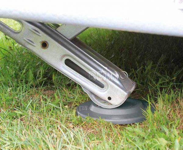 Placas placas de soporte 4 piezas Capacidad de carga 650 kg pc gris 2