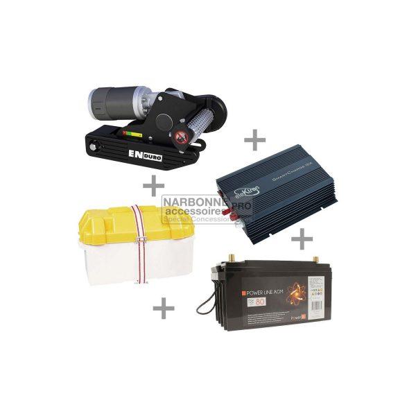 Aparca-caravanas EM203 manual batería de 80 amperios estuche de batería cargador de batería de 10 amperios 1