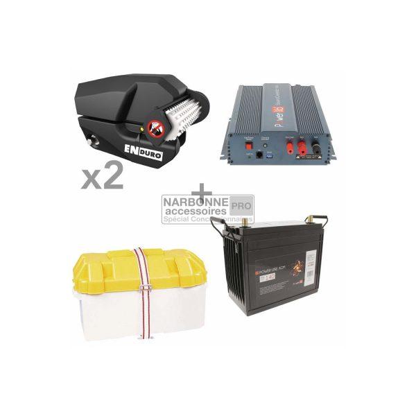 Aparca-caravanas Pack EM303 Paquete de lujo Batería de 140 A Caja de batería Cargador de batería de 15 A 1