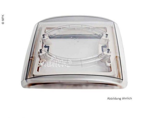 Claravoya de techo 40x40cm marco gris capota cristal ahumado 1