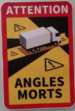 6 Pegatinas 25x17cm señalización Ángulos Muertos-Attention Angles MORTS-Pegatina Camiones Francia 1